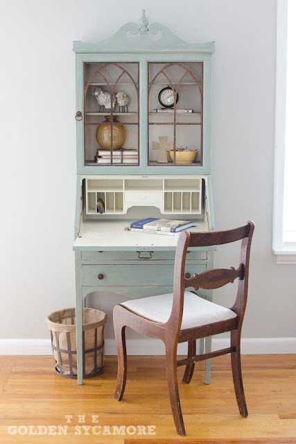 distressed-vintage-chalk-paint-secretary