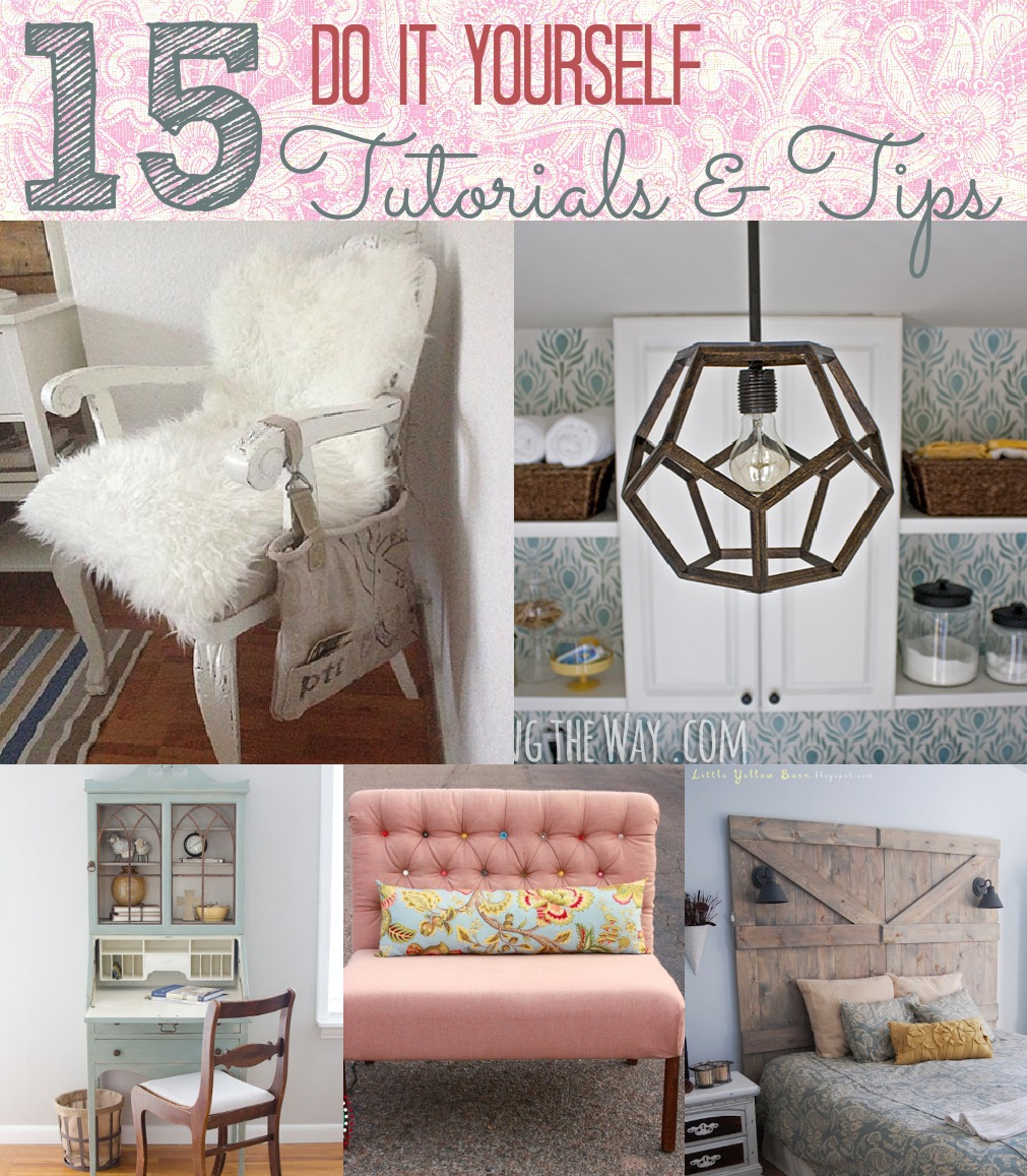 15 do it yourself project tutorials and tips. Black Bedroom Furniture Sets. Home Design Ideas