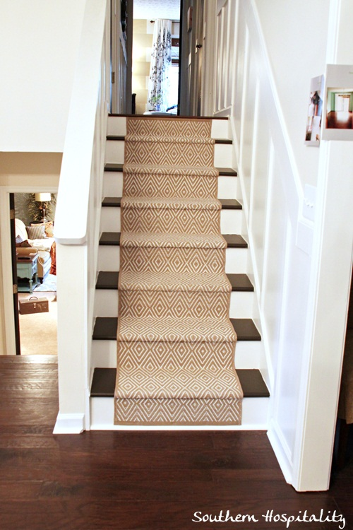 how to add a carpet runner to stairs