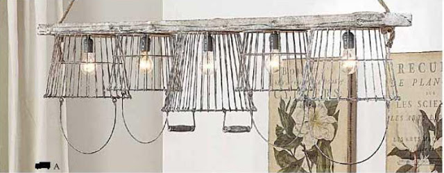 Inspiration File: Basket Light Chandelier by All Things Thrifty