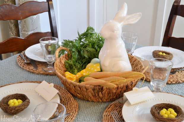 Easter pottery barn tablescape