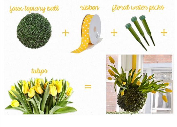 how to make tulip topiary