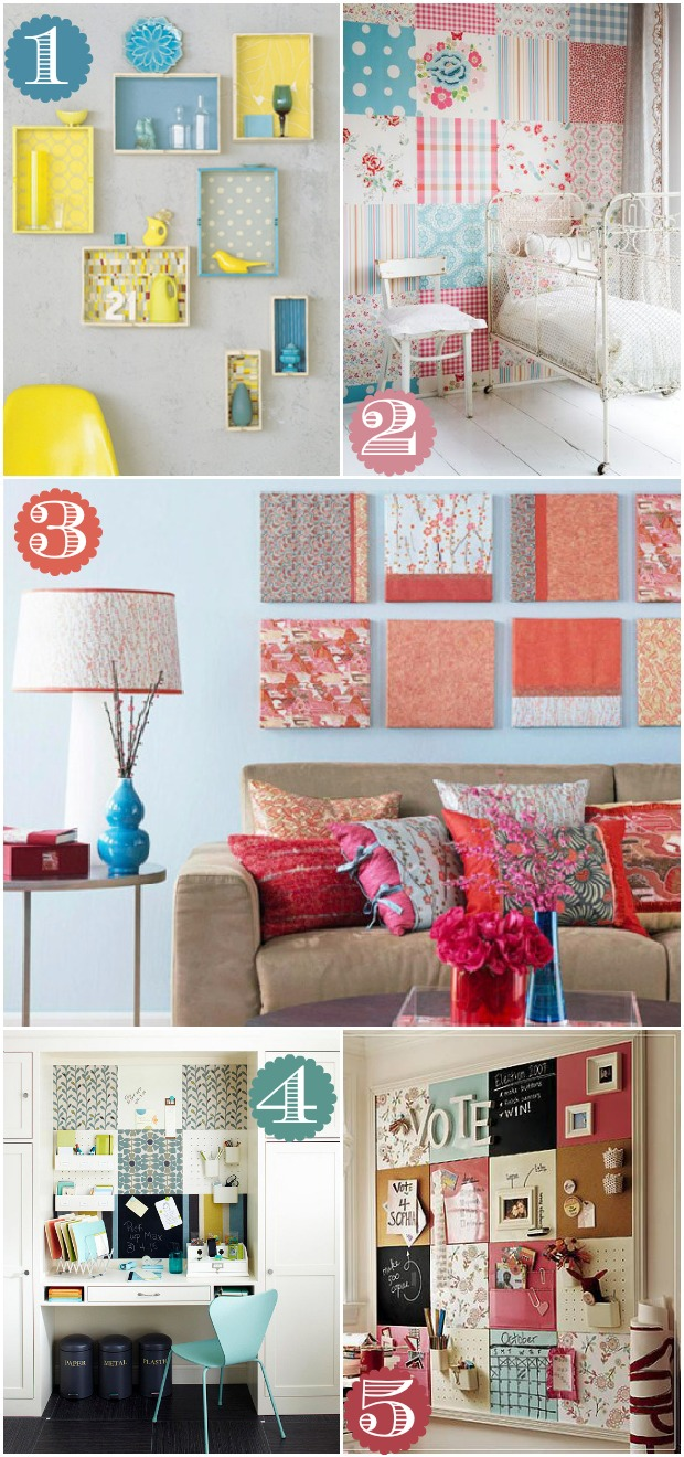 Room Decorating With Paper 42 Ways To Decorate With Scrapbook Paper Home Stories A To Z