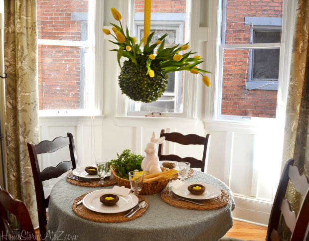 tablescape for easter