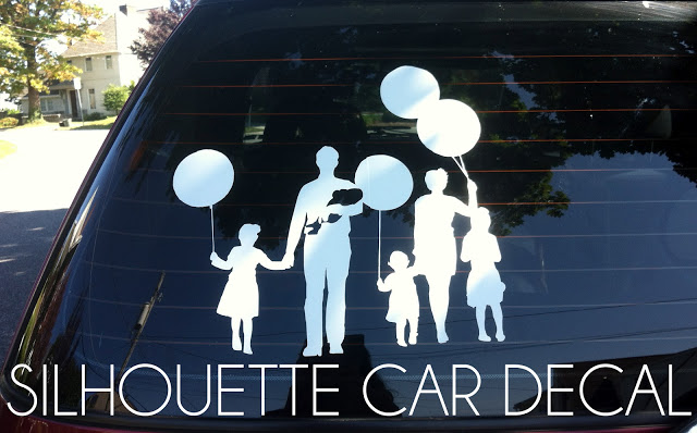 Inspiration File: Family Silhouette Car Decal Tutorial