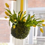 How to Make a Tulip Topiary Chandelier {$25 Visa Gift Card Giveaway}