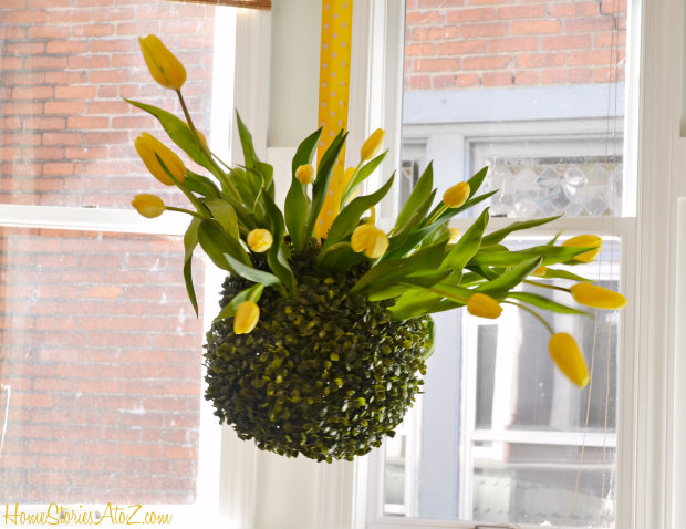 tulip topiary chandelier