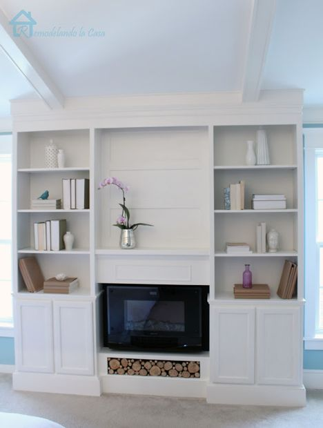 DIY Bookcases with fireplace