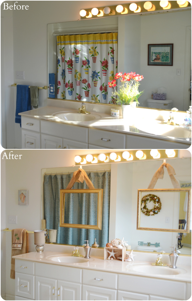 Walmart Bathroom Shower Curtains: Better Homes & Gardens Walmart Bathroom Makeover