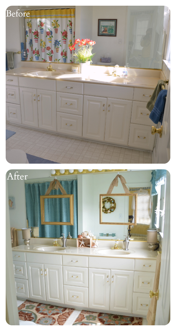 bathroom sinks before and after