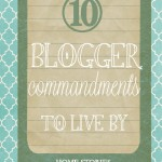 blogger commandments