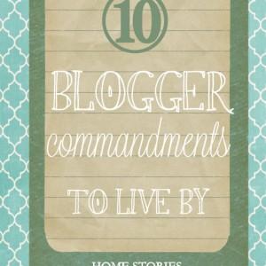 blogger commandments
