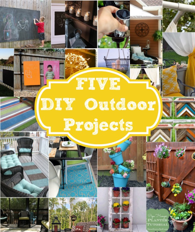 10 Ways To Create A Backyard Oasis: Five Do It Yourself Outdoor Project Ideas