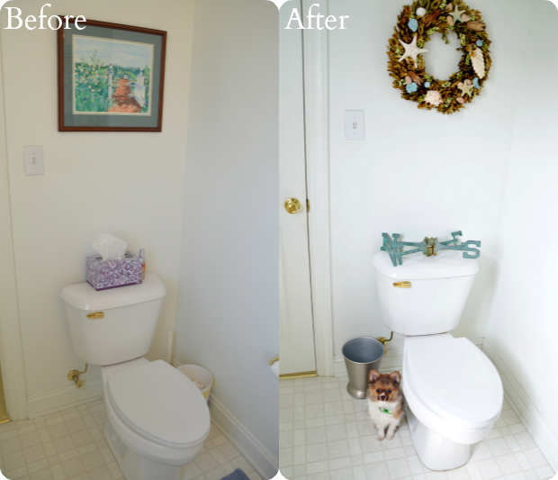 toilet before after