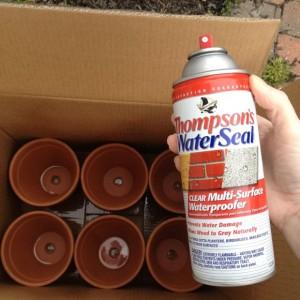 how to waterproof flower pots