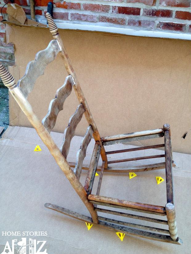 rocking chair spray paint