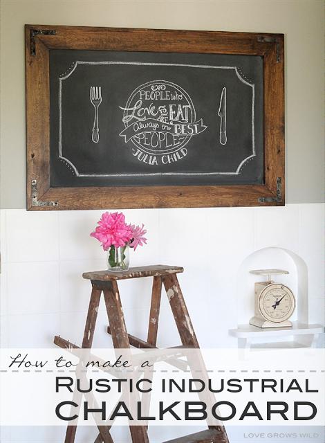DIY-Rustic-Industrial-Chalkboard
