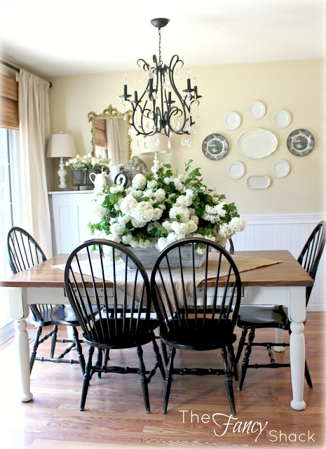 Kitchen tour like the black chairs with the white for Dining room tables black friday