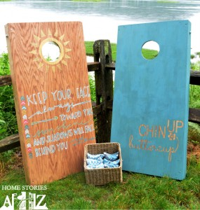 how to make corn hole boards