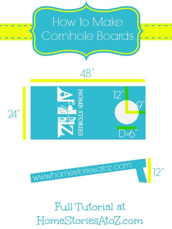 how to build cornhole toss board