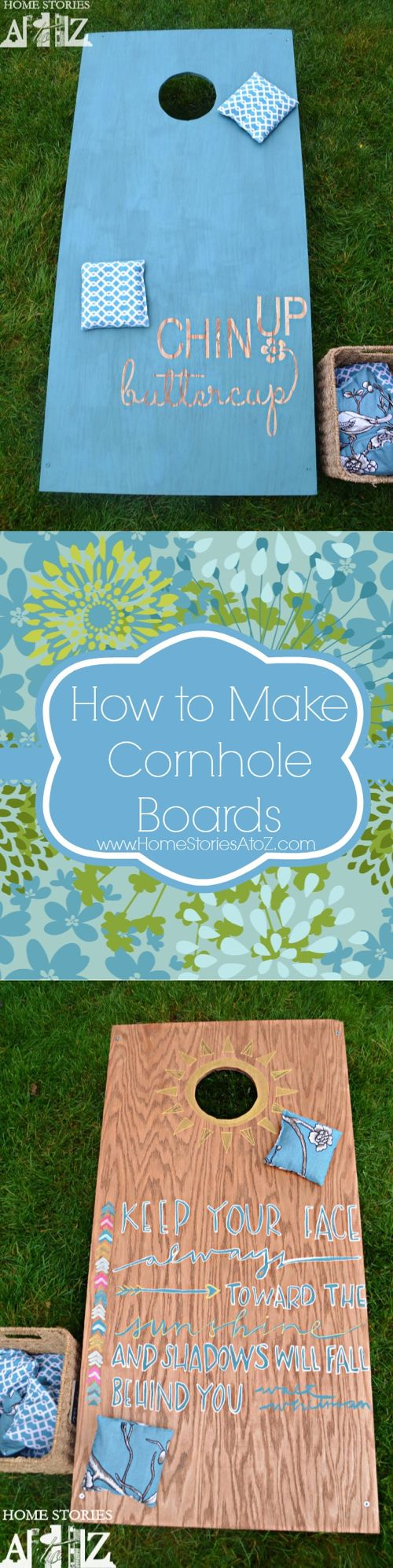 how to build cornhole board