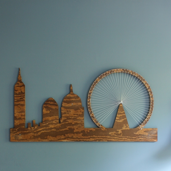 Inspiration File London Skyline String Art By Boxy Colonial on rustic christmas decorating ideas
