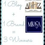 Mikasa Pattern Giveaway {3 Winners!}