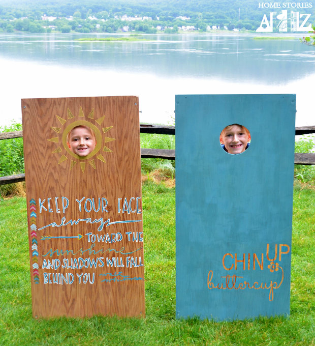 painted corn hole boards
