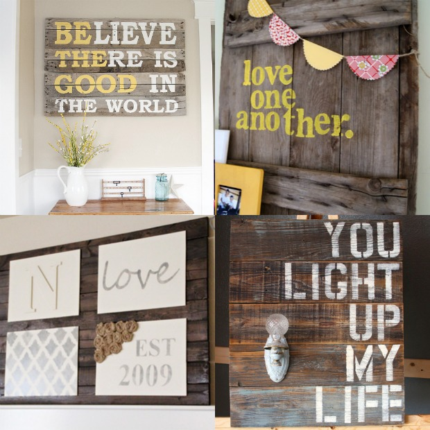 19 The Cheapest Most Easiest Diy Home Decor Tutorials: How To Make An Easy Pallet Sign {step-by-step Tutorial