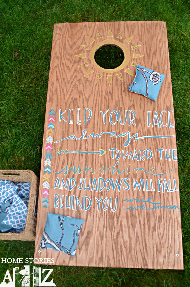 sunshine corn hole board