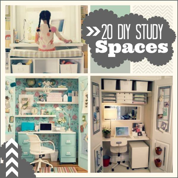 20 do it yourself study spaces. Black Bedroom Furniture Sets. Home Design Ideas