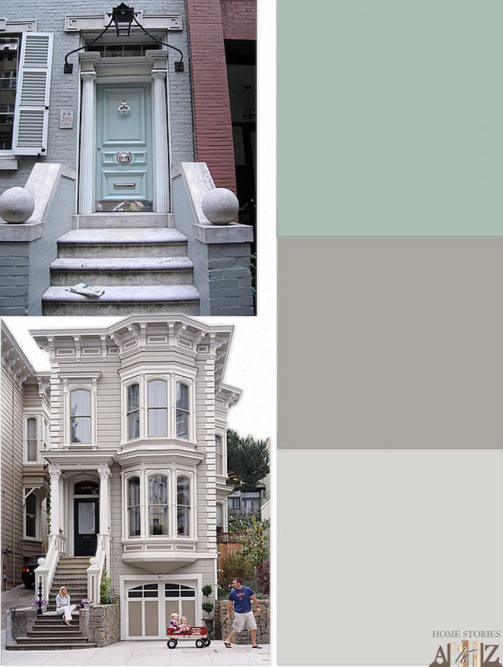 Row Home Exterior Paint - Home Stories A to Z