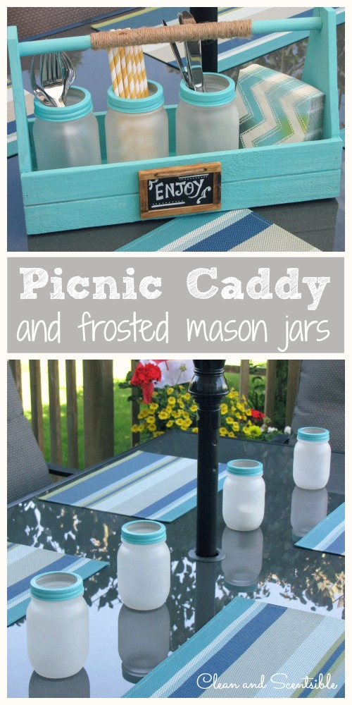 Picnic-Caddy-and-Frosted-Mason-Jars