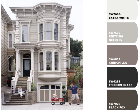 Row Home Exterior Paint