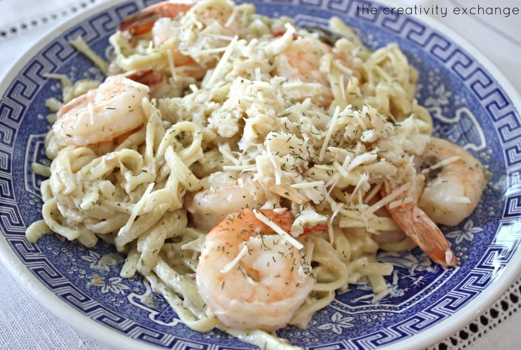 Alfredo seafood linguini recipe