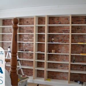 billy built-in bookshelf ikea