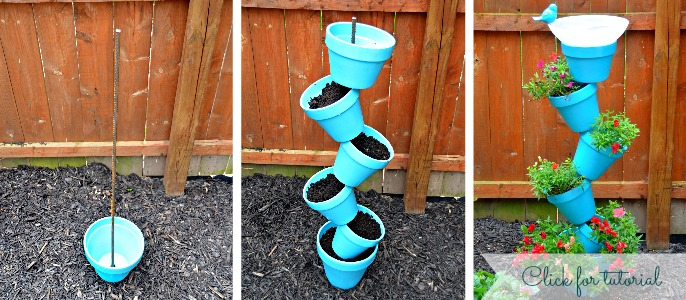 bird bath planter tutorial