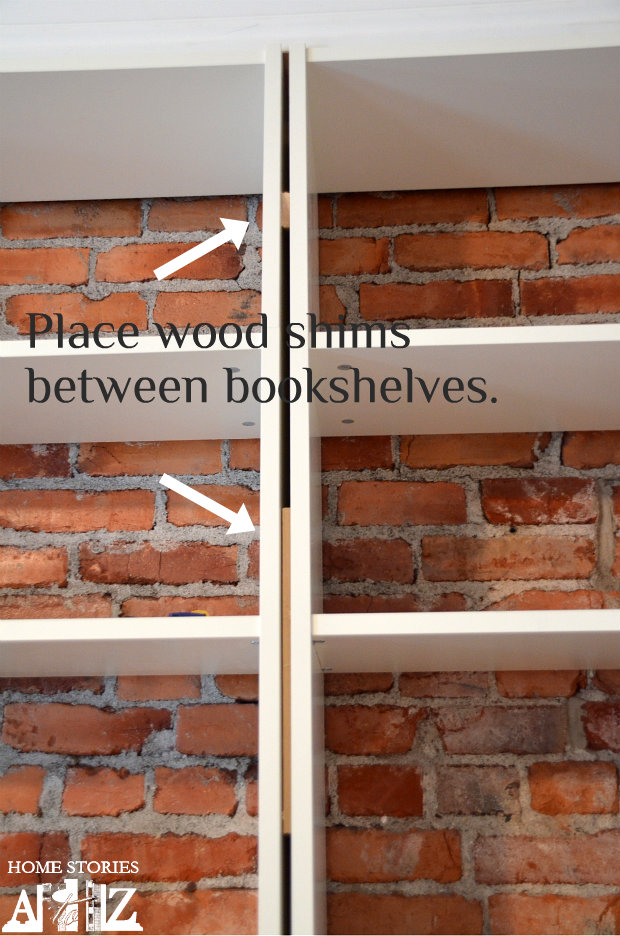bookcase wood shims