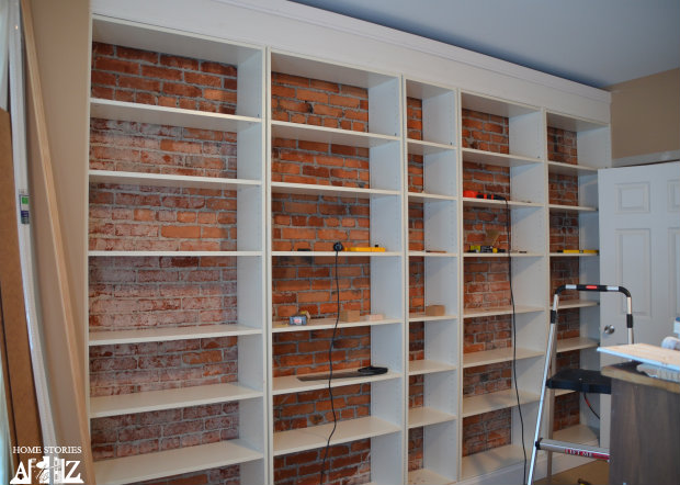 Ikea Hack Billy ikea hack billy built in bookshelves part 1 home stories a to z