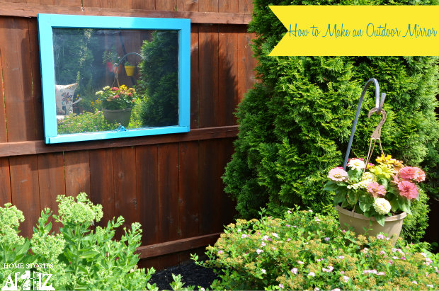 How To Make Outdoor Mirror From Window