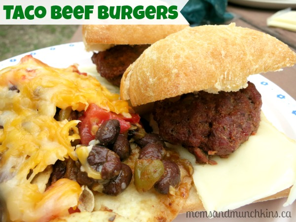 taco beef burger recipe