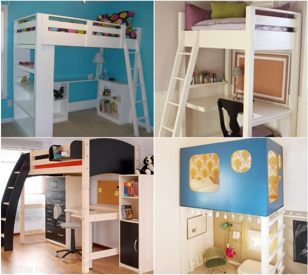 BUILD A LOFT BED STUDY AREA