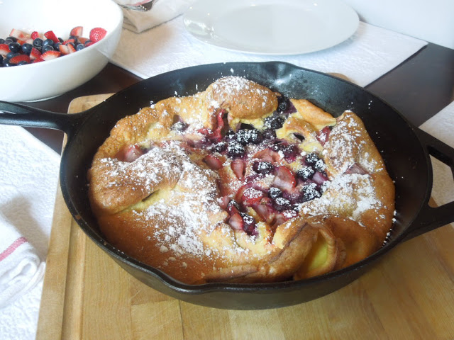 Strawberry and Blueberry Dutch Baby