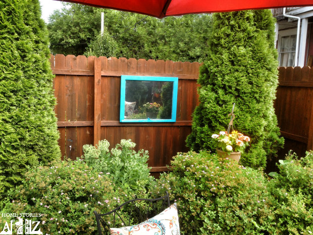 diy window outdoor mirror