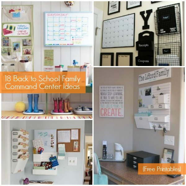Home Organization Calendar System : Family command center ideas and free organization