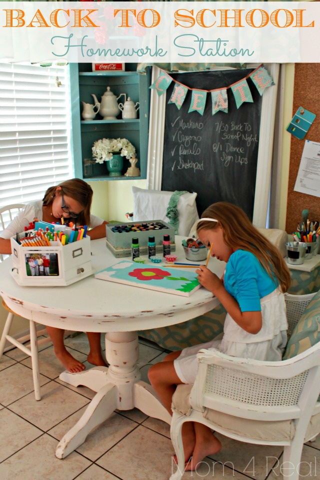 Back-To-School-Homework-Station
