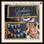 How to Make Chocolate Chalkboards