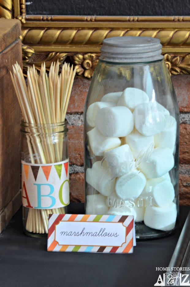 back to school smores bar