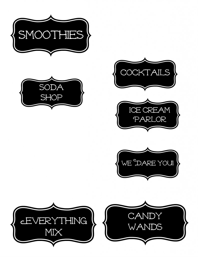 candy labels