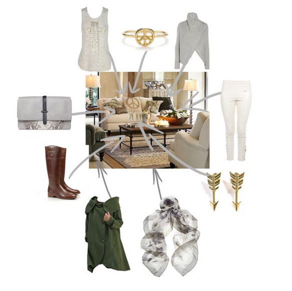 pottery barn room inspired outfit